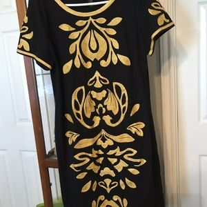 INC International Concepts Embroidered Dress XL